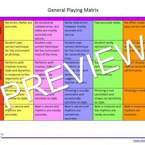 General Playing Matrix