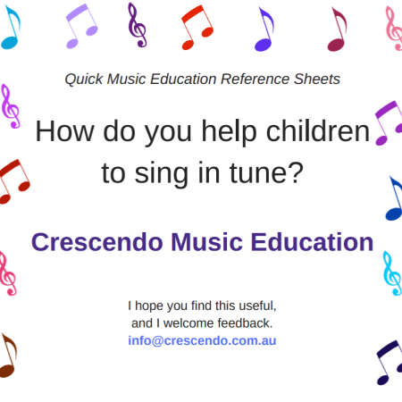 QMERS - How do you help children sing in tune