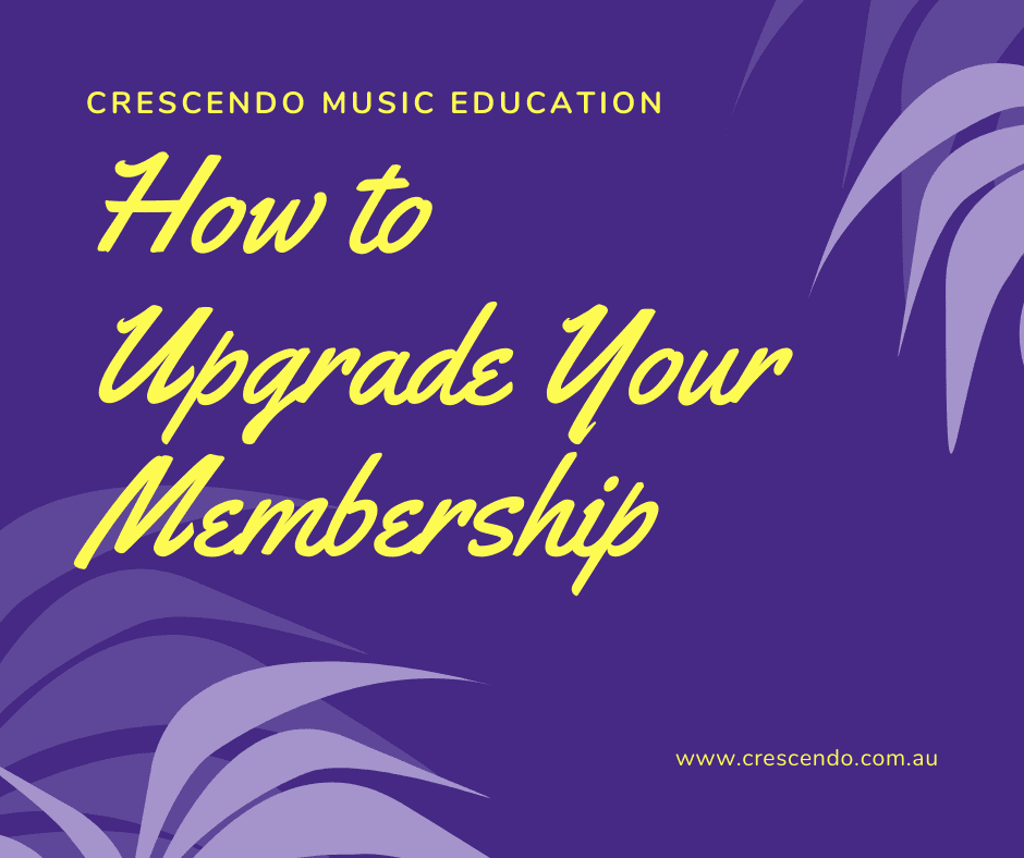 How to upgrade your membership