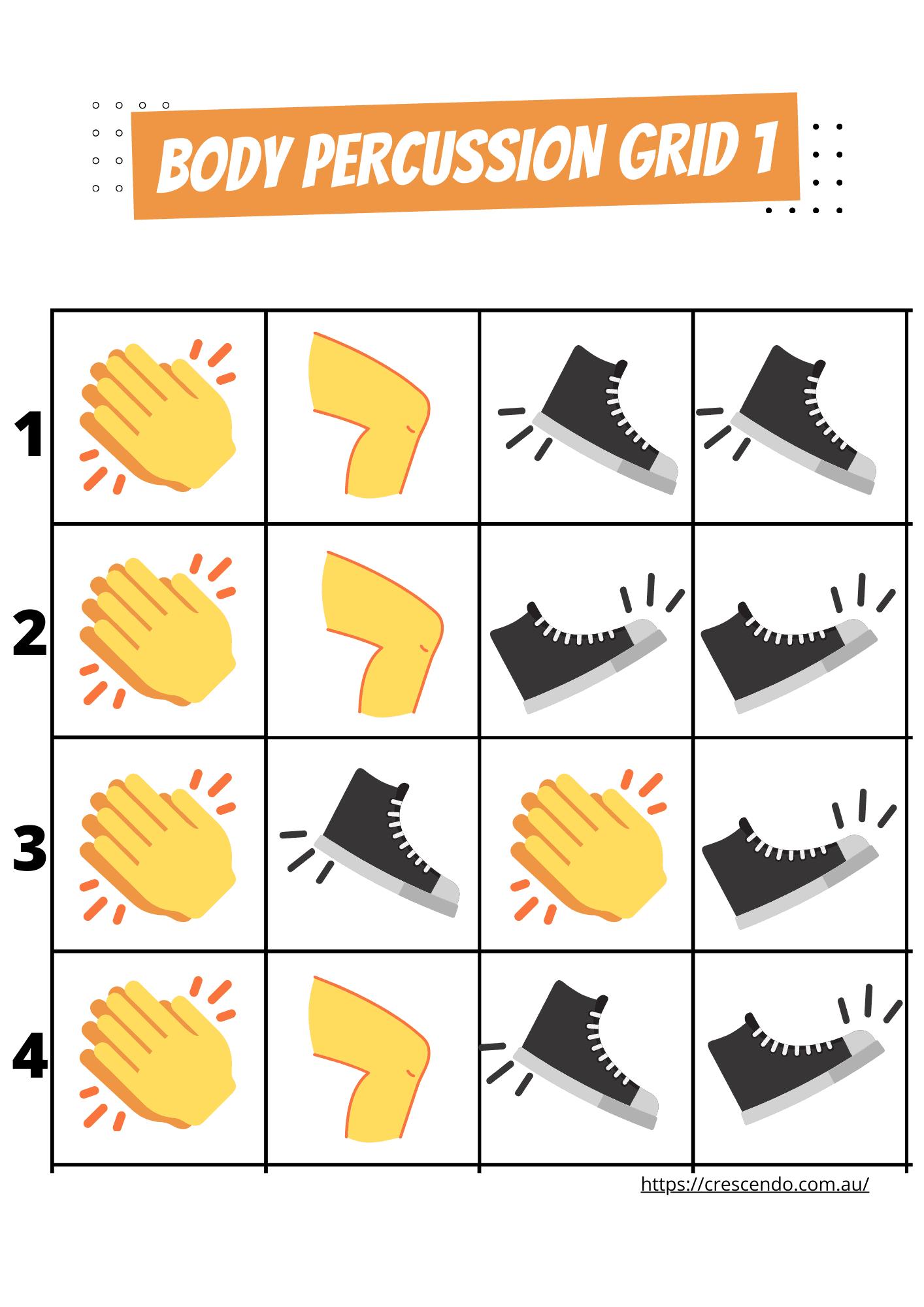 Body percussion grid 1