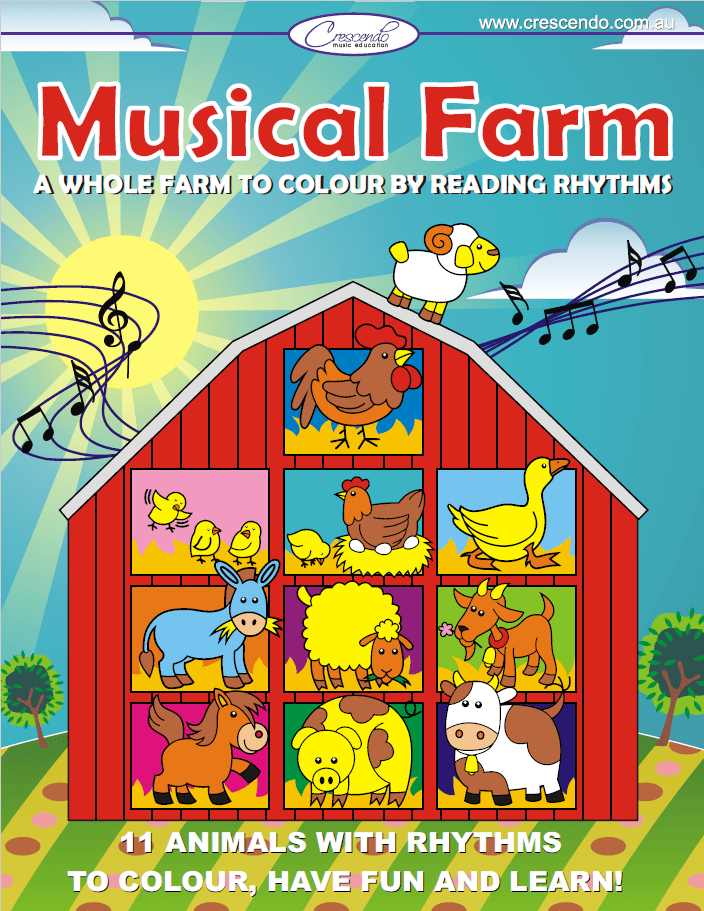 Musical Farm Colouring Book